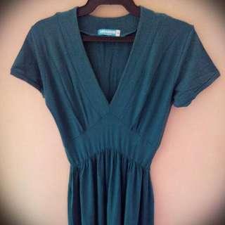 Seventeen Empire Waist Midi Stretch Dress