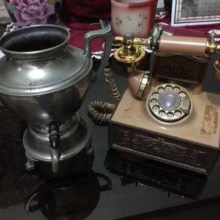 Telephone & Kettle