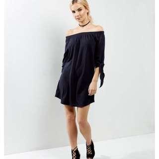 Newlook Dress Bardot Off Shoulder Dress