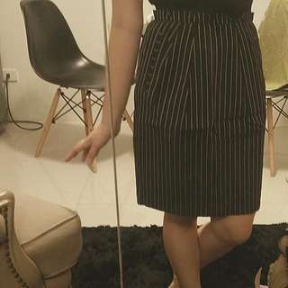 Vertical Striped Corporate Skirt