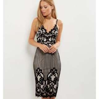 Newlook Lace Dress Black Brand New