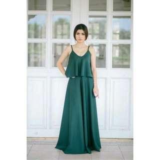 Emerald Green Evening Gown