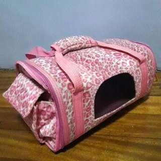 Pink Dog Carrier Bag