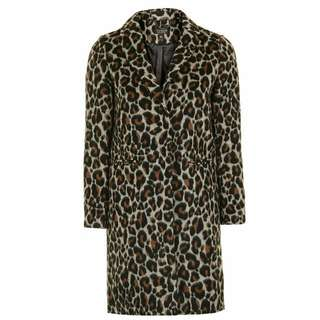SALE 100%NEW Topshop Leopard Coat 豹紋大褸