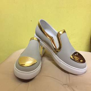 Grey and Gold Slip-on