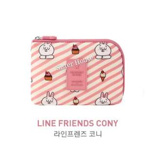 (包郵)🇰🇷LINE Friends x Monopoly Cony Cable Pouch (S) 兔兔電線收納袋 (小)
