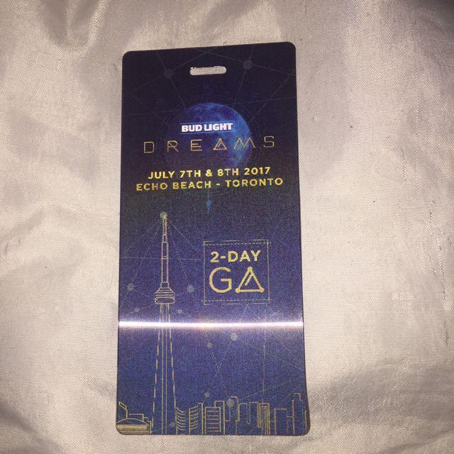 2 Day GA Dreams Hardcopy ticket