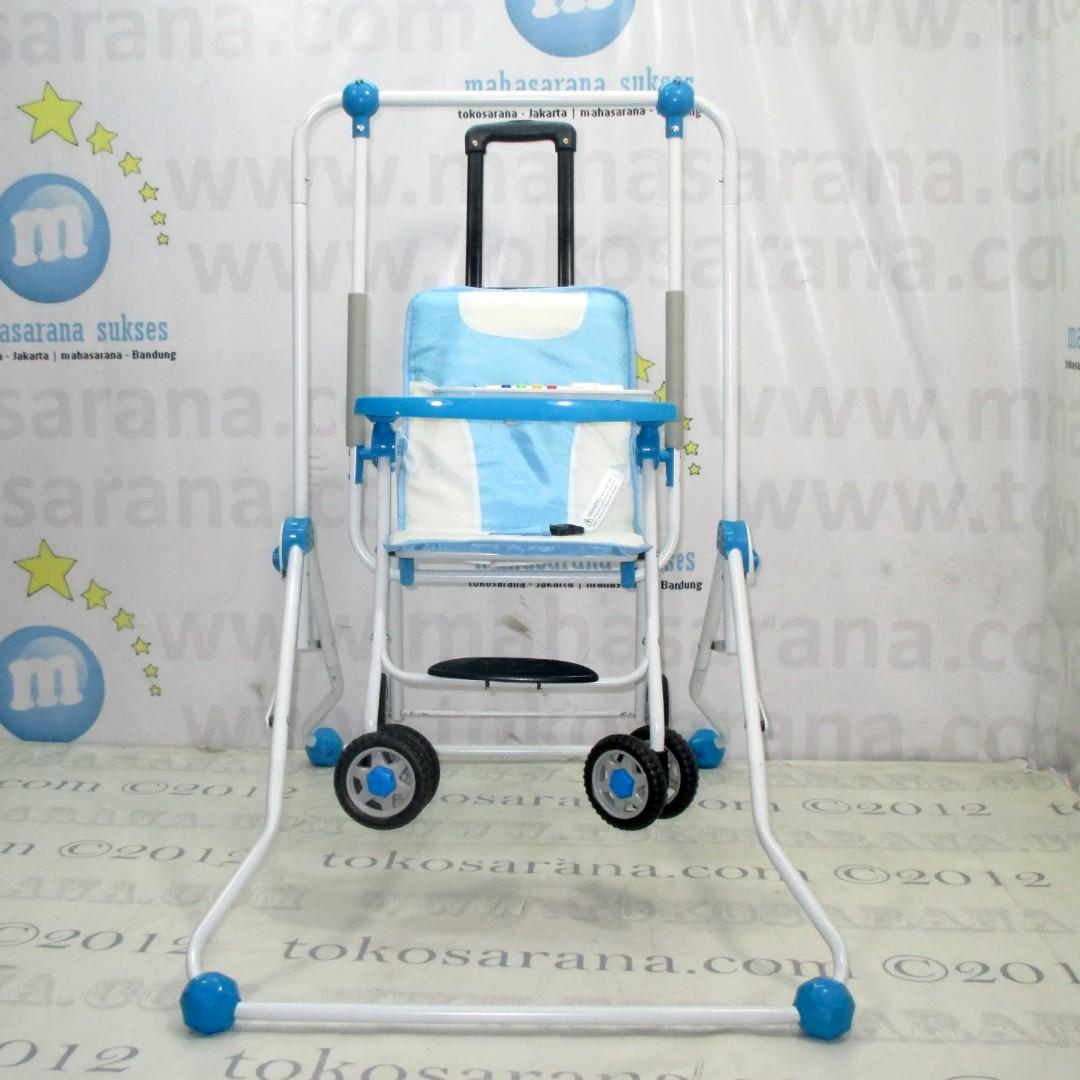 Baby Swing And Chair Stroller Ayunan Kursi Makan Merk Tajimaku Bayi Joe Yi Photo