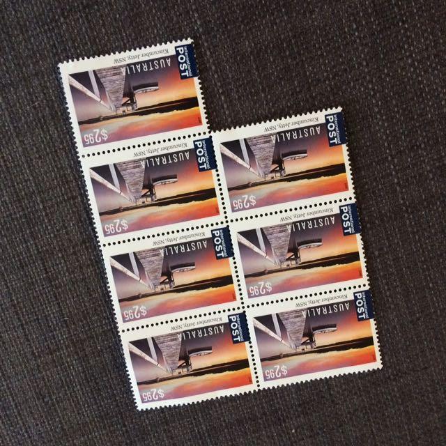 7 International Envelope Stamps
