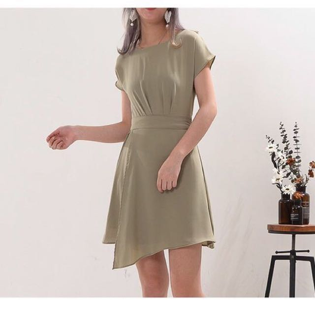 綠/黃兩色氣質文青洋裝