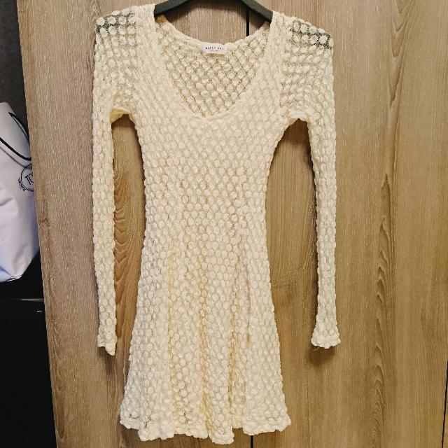 韓國圓點蕾絲洋裝