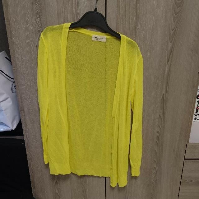 韓國針織薄型小外套黃色