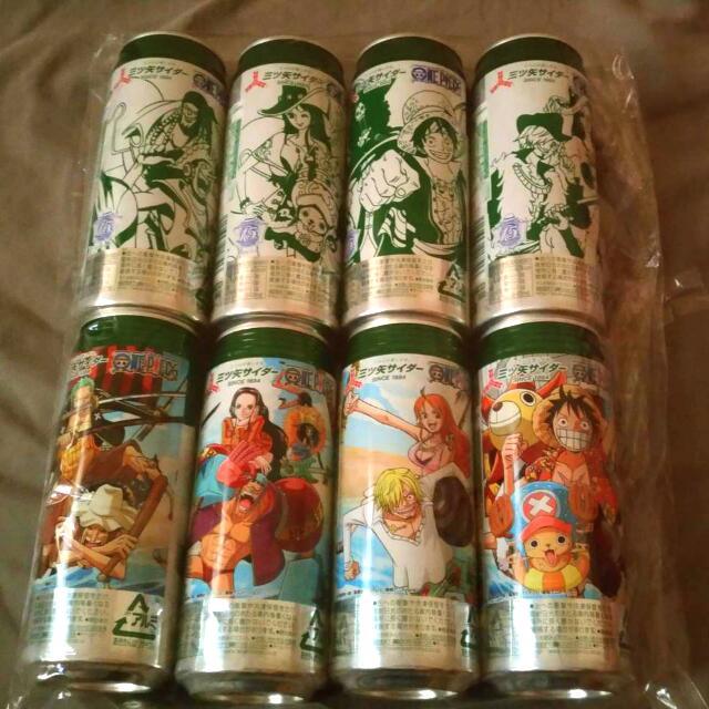 [可換物。可直購]航海王日版原裝汽水罐拼圖。兩張圖黑白加彩色。兩版。