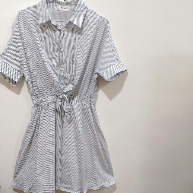 (任兩件免運)全新 條紋洋裝