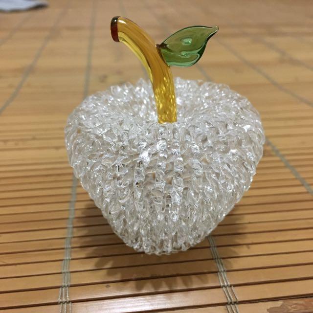 水晶蘋果 琉璃 玻璃 擺飾 #八月免購物我送你