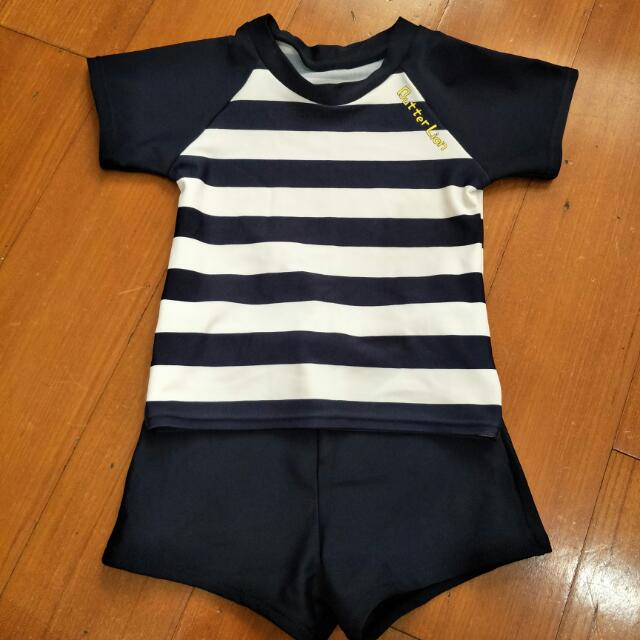 百貨專櫃 嬰兒泳衣 泳褲 海軍風