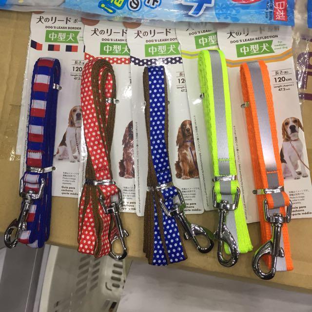 中型犬 項圈 牽繩 反光 安全