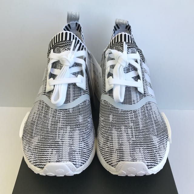 Adidas NMD R1 PK Glitch Camo Black & White (Jap Tags) Mens Size US 9 Brand New