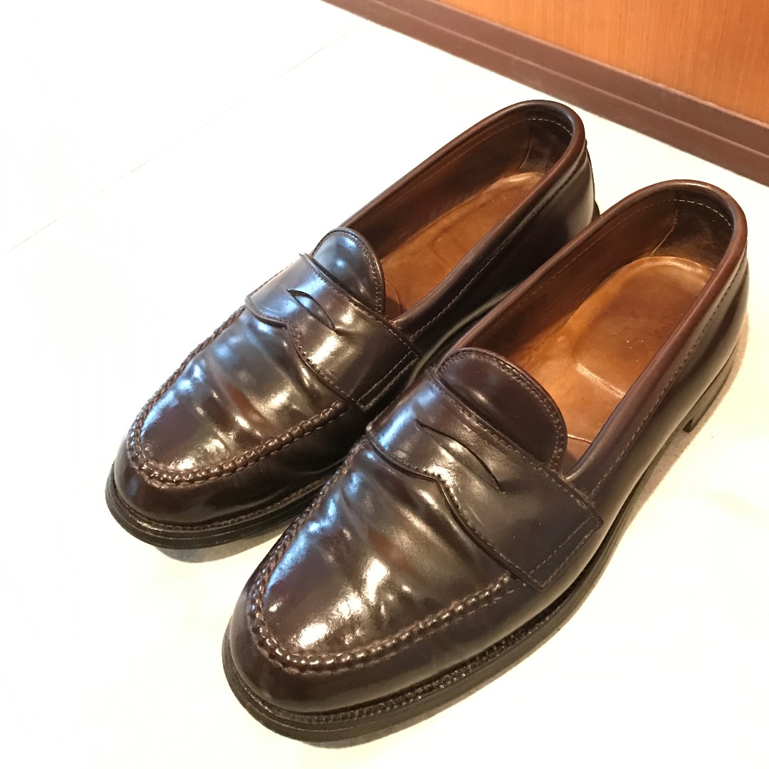92dde4f9048 Alden 986 Penny Loafers Shell Cordovan US8.5