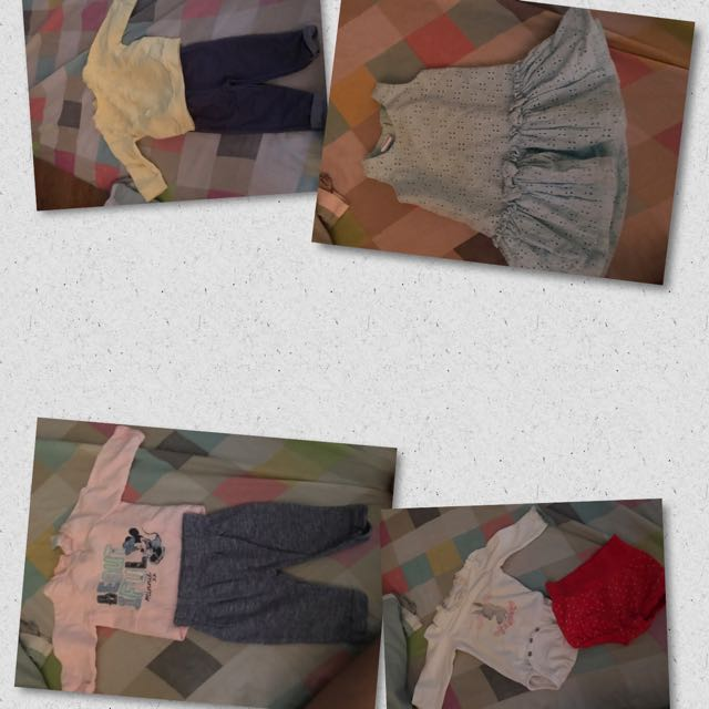 Assorted Baby Clothes and Shoes for Girls- 0-6 months