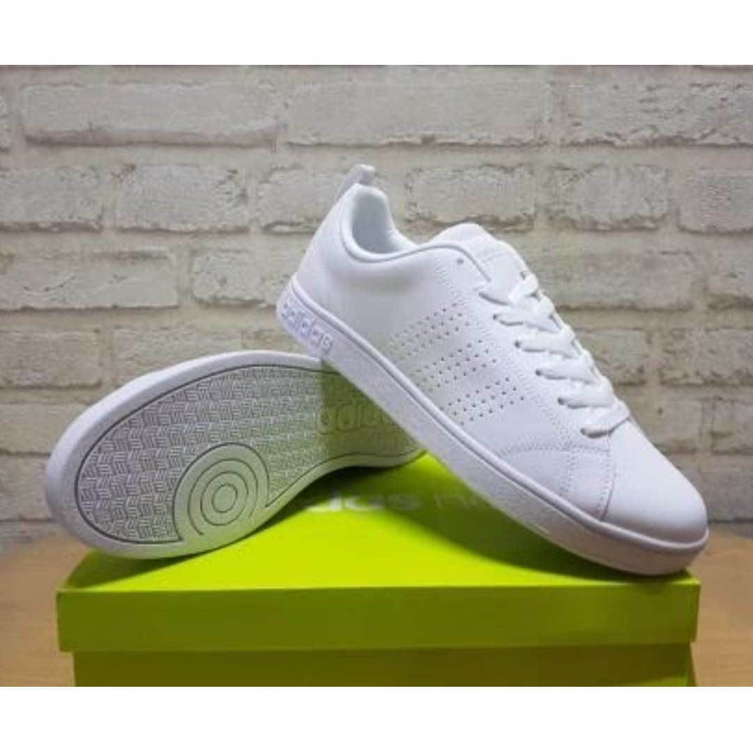 on sale 2efa3 93b3f ... france auth. adidas neo clean white advantage unisex shoes mens fashion  footwear on carousell ecd5c