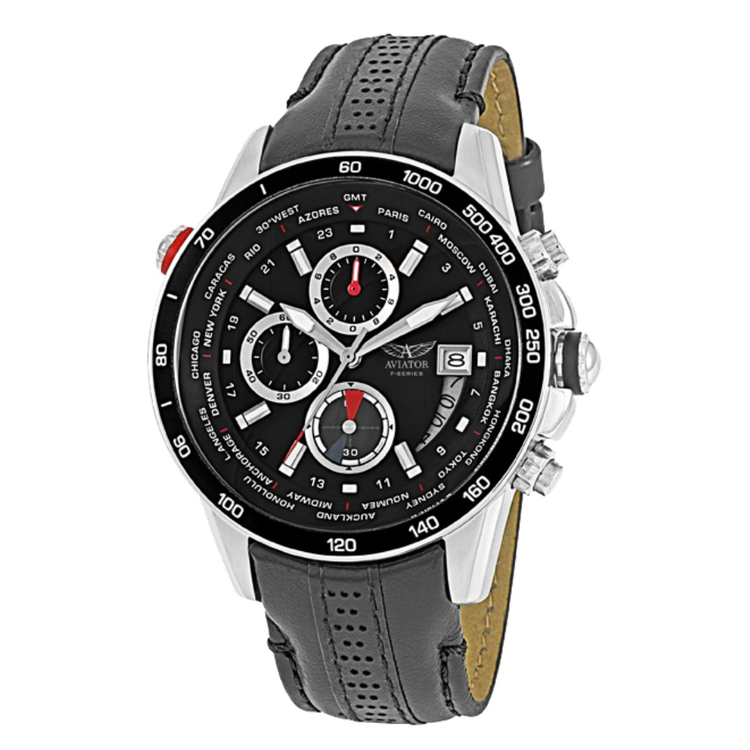 aviator f series world time tachymetre chronograph watch. Black Bedroom Furniture Sets. Home Design Ideas