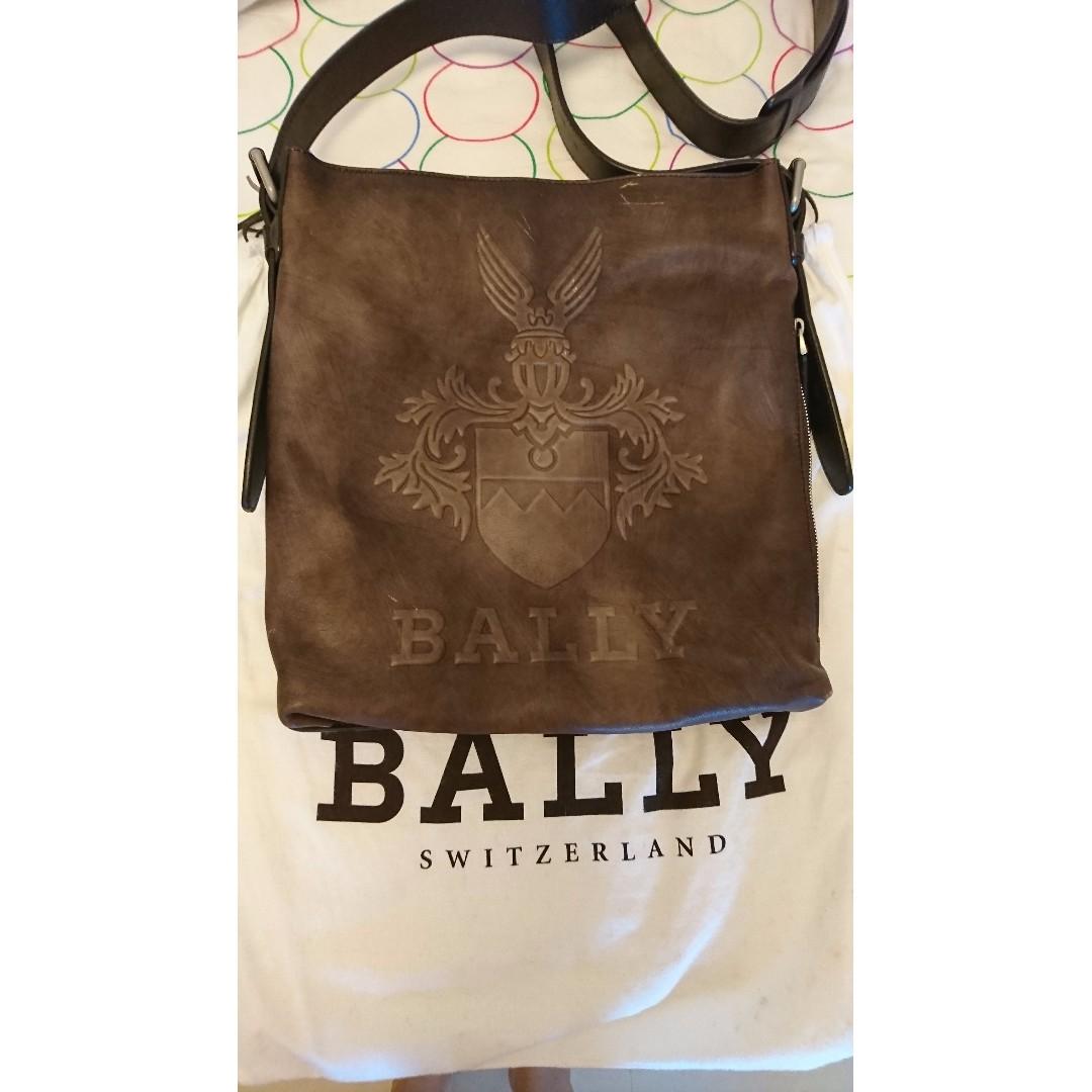 BALLY限量設計款 手工手染牛皮男用包款(微風百貨購入)
