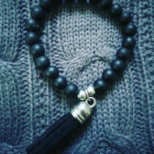 Bead & Tassel Bracelet