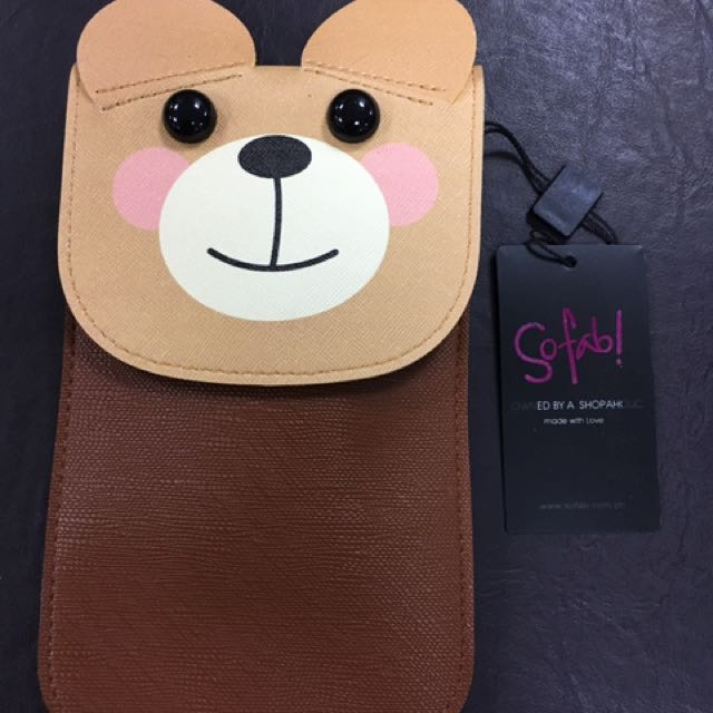Bear design cellphone sling bag