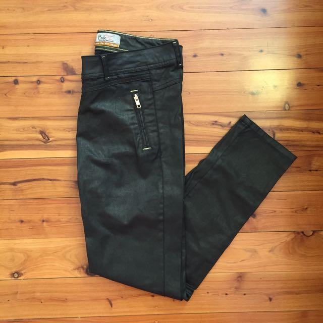 Bershka Black/Gold Pants