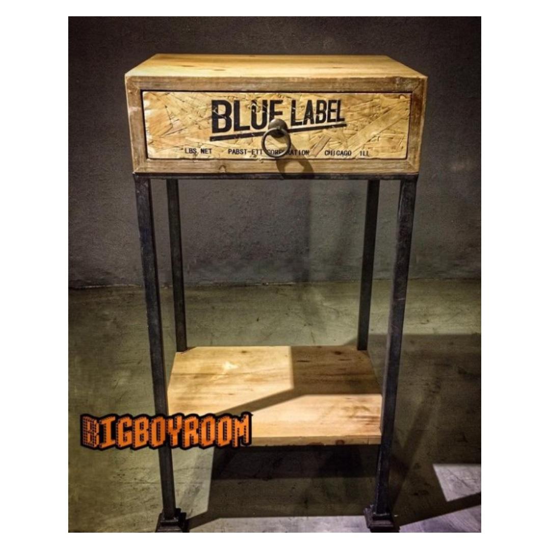 【BIgBoyRoom】工業風家具 造型玄關桌 木製高腳桌LOFT美式復古桌子餐桌 陳列桌攝影道具 酒吧餐廳飯店大廳民
