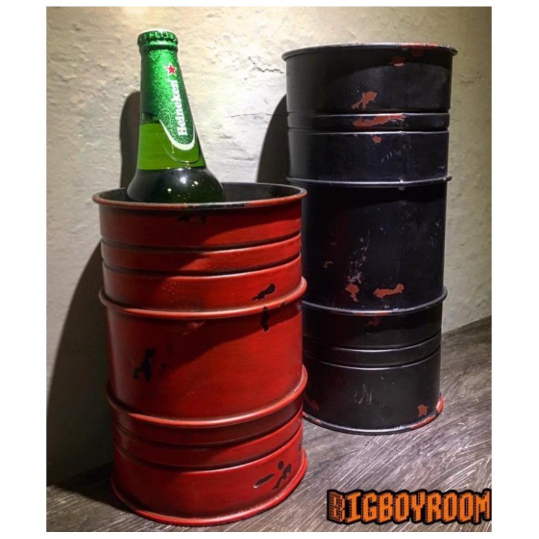 【BIgBoyRoom】工業風家具 Loft家飾汽油桶容器 擺件套件 古董美式復古紐約 鐵製立體模型 居家裝飾酒吧