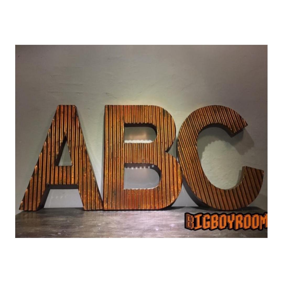 【BIgBoyRoom】工業風家具 Loft A.B.C 鐵製招牌美式復古紐約 壁掛居家裝飾攝影道具酒吧咖啡廳