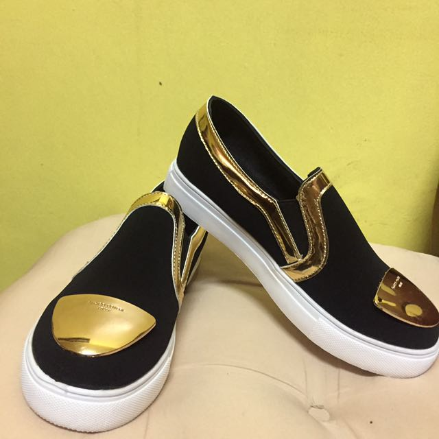 Black and Gold Slip-on