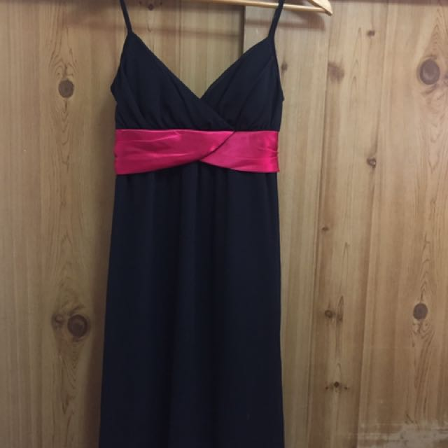 Black and Red Cocktail Dress
