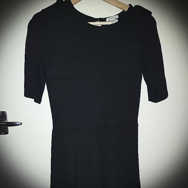 Black Dress Forever 21 Casual Shoulder Buttons