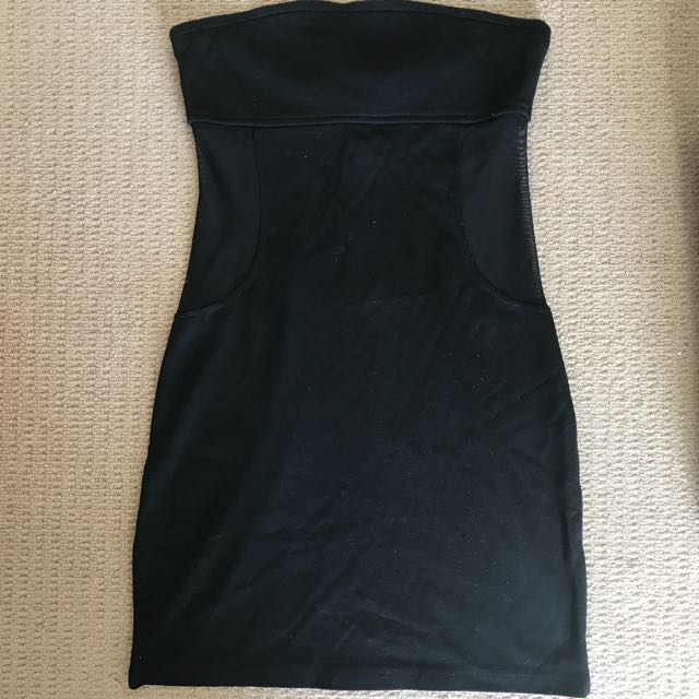 Black Mini Bodycon Dress From Foxx Foe