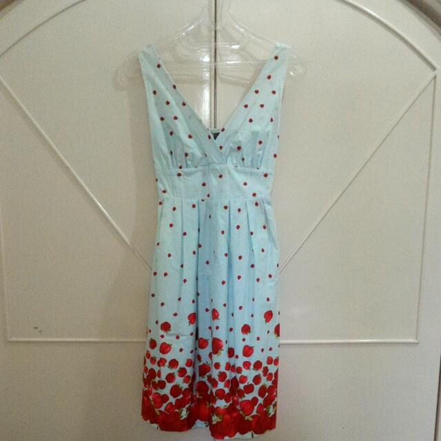 Blue Red Apple Dress