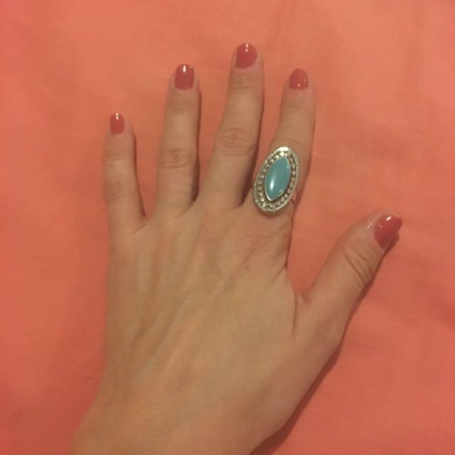 Boho Blue Ring