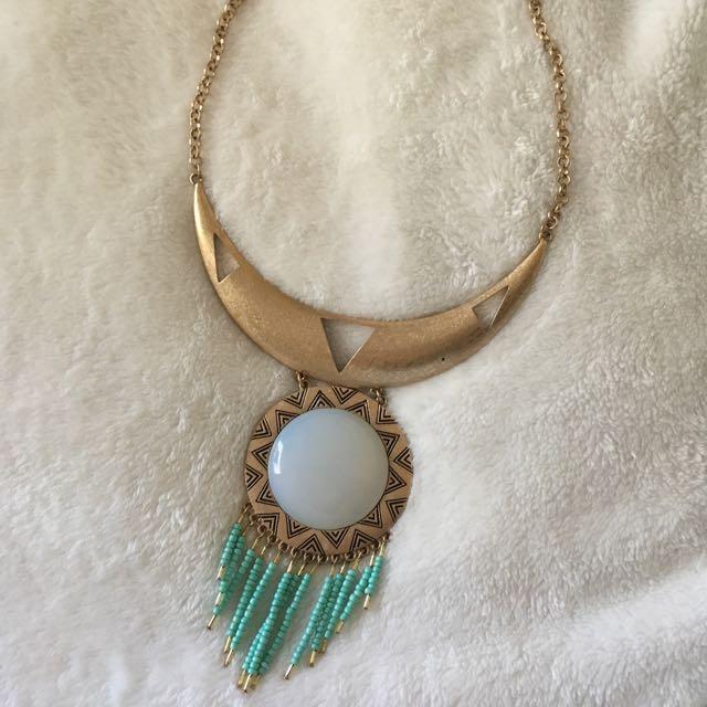 Boho Stone Statement Necklace
