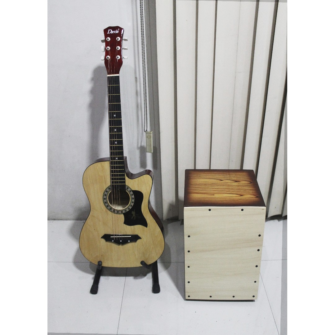 Brand New Acoustic Guitar Package with Cajon and Freebies