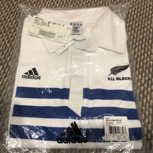 Brand New Adidas All Blacks Club Polo Shirt Medium