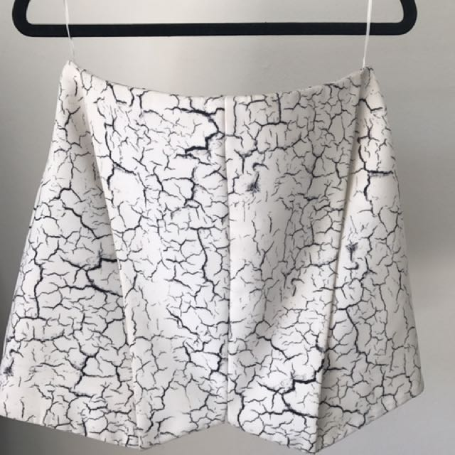 Cameo The Label Cracked Print Mini Skirt