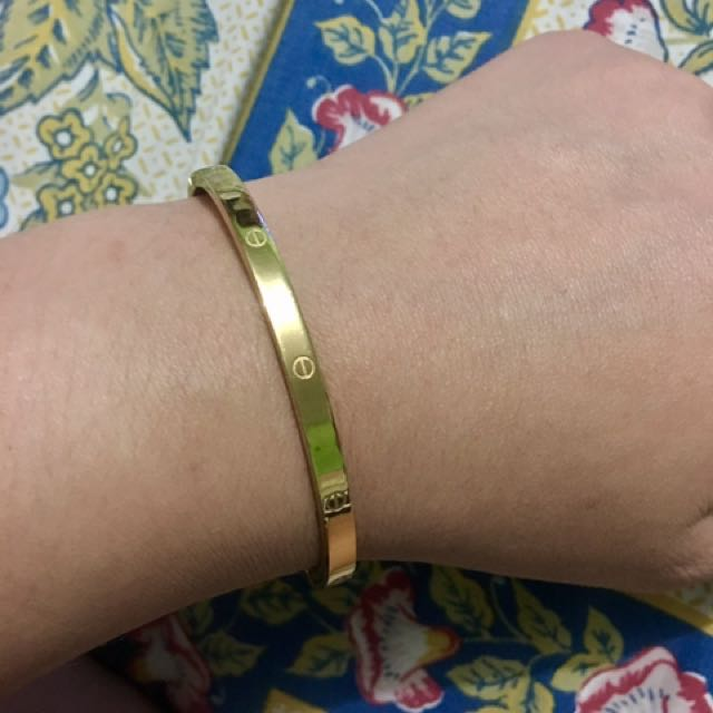 Cartier Inspired Gold Bangle