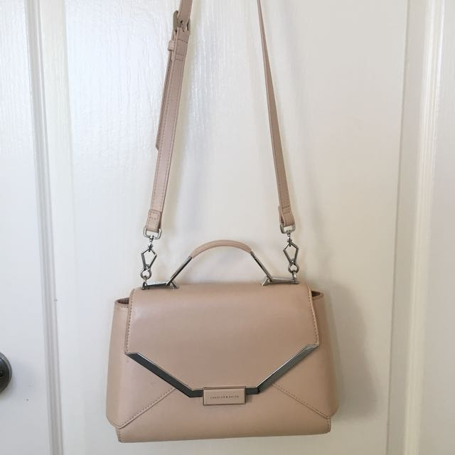 Charles & Keith Nude Shoulder Bag
