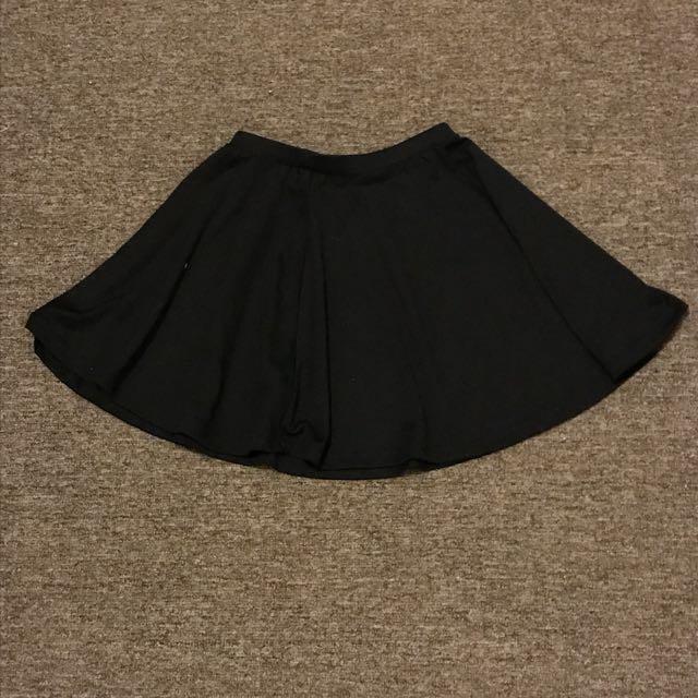 Cotton On Black Flair Skirt