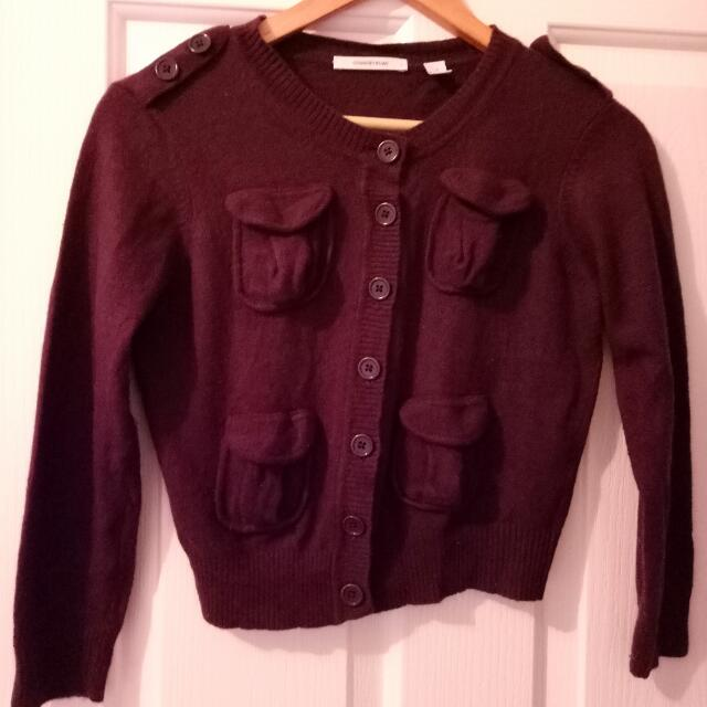 Country road wool blend crop cardigan S Small