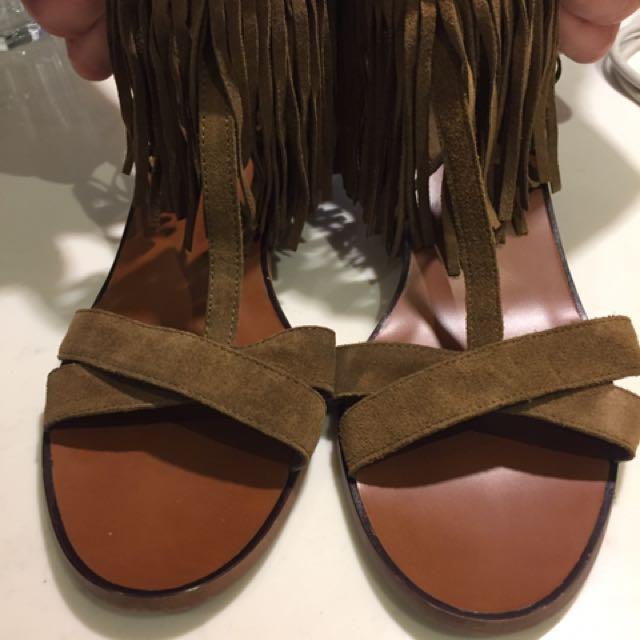 Cute Fringe Sandal From Zara. Size 40
