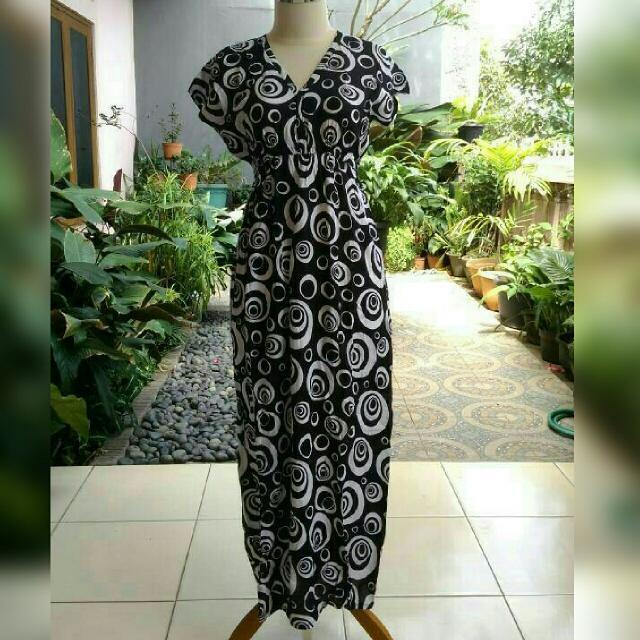 Daster Batik Baju Bali Lengan Putung
