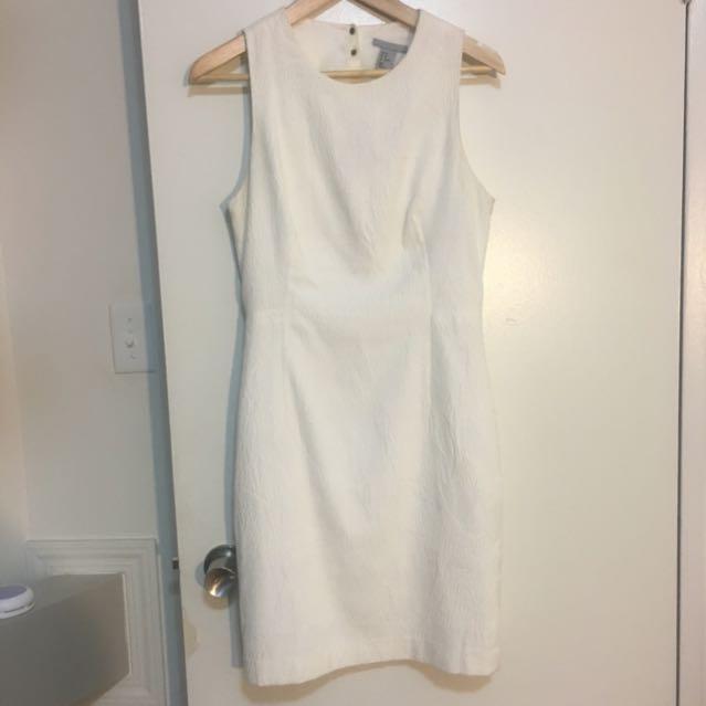 Detailed White Dress